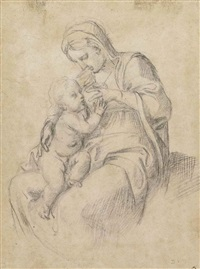 the madonna suckling the infant christ by annibale carracci