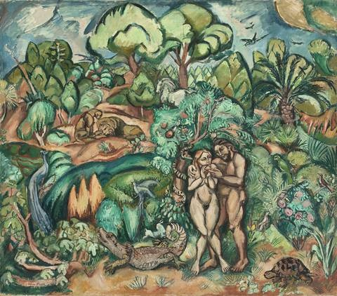adam et eve by achille emile othon friesz