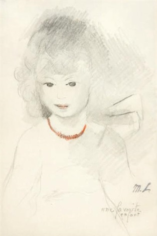 une favorite enfant by marie laurencin