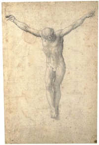 christ on the cross by giulio clovio