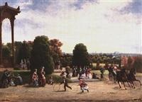 view of philadelphia from fairmount park by william e. winner