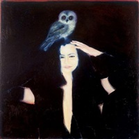 self portrait and an owl by eilat adar