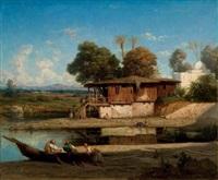 les pêcheurs turcs by etienne billet
