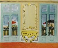 intérieur à la console jaune by raoul dufy