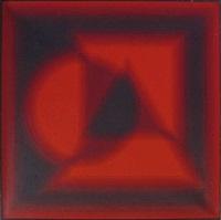 komposition mit kreis, dreieck und viereck by patrice allart