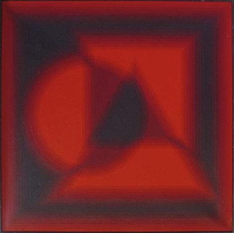 komposition mit kreis dreieck und viereck by patrice allart
