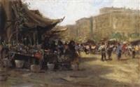 italienische marktszene by fernando del basso