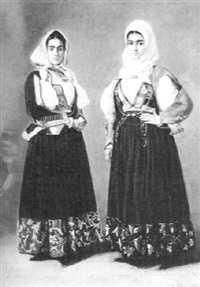 two women in balkan dress by guglielmo bilancioni