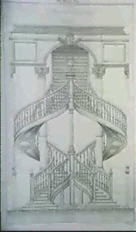 projet d'escalier a double revolution by o. courbet