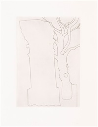 column and tree by ben nicholson