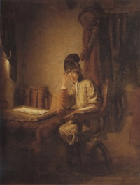 a young philosopher in his study by heyman dullaert