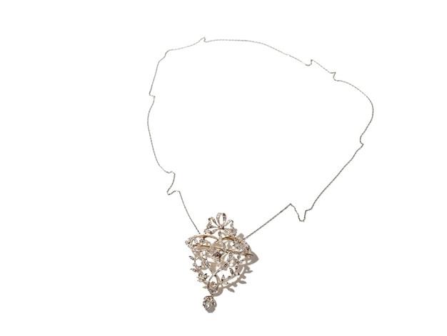 art nouveau necklace with diamonds of 252 carat around 1890