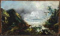 esquisse, paysage suisse by gustave courbet