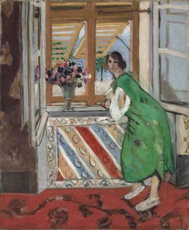jeune fille à la mauresque robe verte by henri matisse