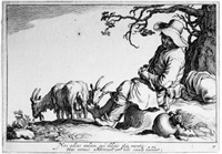 pastoralen (after abraham bloemaert) (portfolio of 8) by cornelis bloemaert the younger