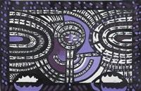 composition in purple and black by bedri rahmi eyuboglu