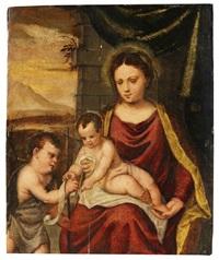 maria mit christus- und johannesknaben by francesco brini
