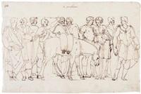 la procellana: un groupe de figures autour d'un âne by ercole setti