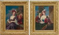 la jeune femme et l'entremetteuse (2 works) by jacques-françois courtin