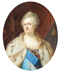 portrait of catherine the great (after johann baptist lampi) by alois gustav rockstuhl