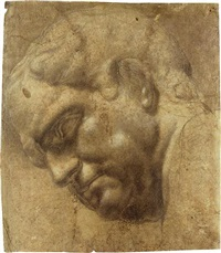head of vitellius by ambrogio giovanni figino
