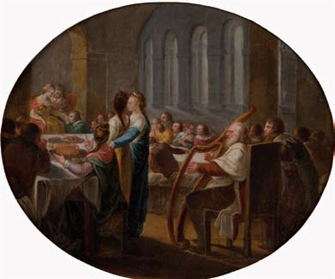 scène de festin by benjamin west