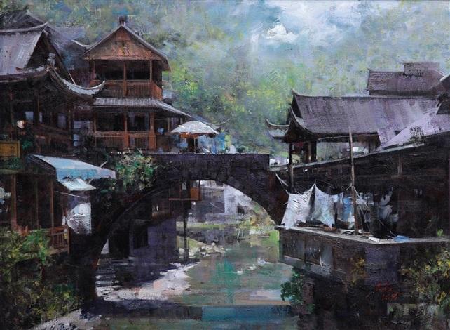 湘西古镇 by an he