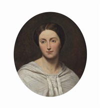 portrait of anna maria helena, comtesse de noailles, bust-length by ary scheffer