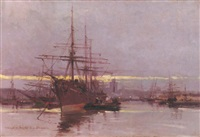 the port of helsingor by ioannis (jean h.) altamura