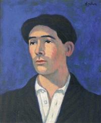 autoportrait (?) by georges ascher