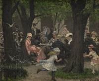 scene from a park, munich by erik theodor werenskiold