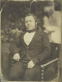 portrait présumé du photographe, homme assis en extérieur 2 by jean baptiste frénet