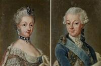 porträtt föreställande gustav iii och sofia magdalena (pair) (copy after gustaf lundberg) by amalia lindegren