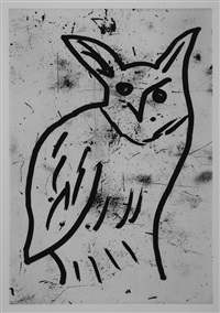 owl, pl. v by donald baechler