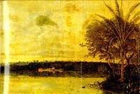 view of the town and homestead of frederik in paraiba, brazil by frans jansz post