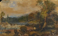 fishing on the yarra by henry eason davies