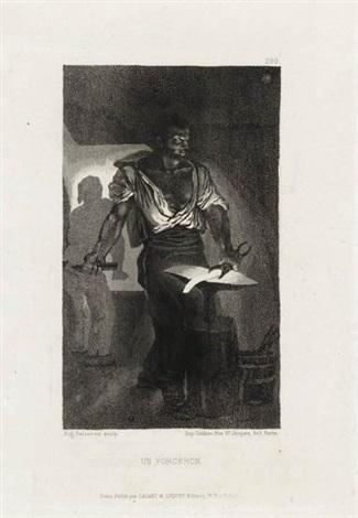 un forgeron by eugène delacroix