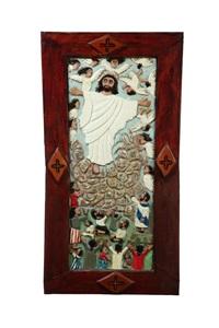 jesus and the angels by elijah pierce