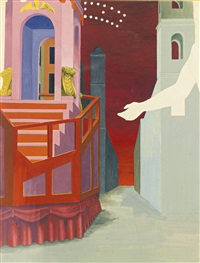 study for 'festa' by george tooker