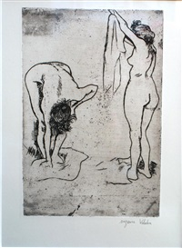 femmes s'essuyant by suzanne valadon