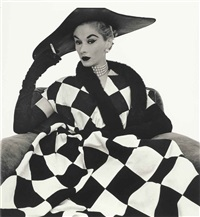 harlequin dress (lisa fonssagrives-penn) by irving penn