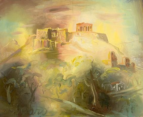 view of the acropolis by giorgios gounaro gounaropoulos
