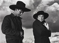 georgia o'keeffe and orville cox, canyon de chelly national monument, arizona by ansel adams