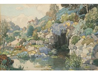 felixstowe gardens by leonard russel squirrell