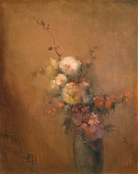 still life with flowers by leon dabo