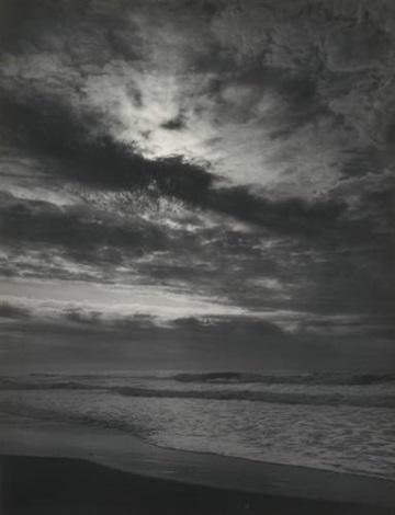 sundown pacific ocean northern california coast pacific ocean sunset california by ansel adams