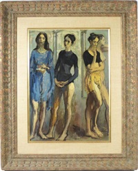 four dancers by moses soyer