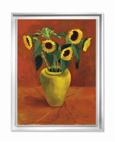 Sunflowers In A Yellow Vase By David Hockney On Artnet