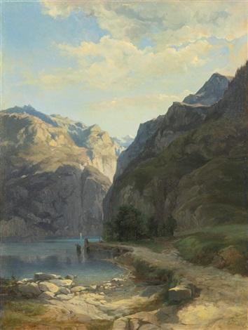 laxenstrasse lac des quatre cantons by alexandre calame