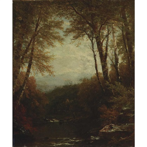 woodland scene by john william casilear